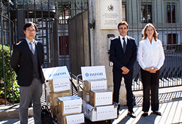 DAFOH delegates deliver petition to the UN High Commissioner for Human Rights in Geneva